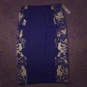 a floral skirt
